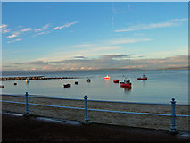 SD4364 : Boats on Morecambe Bay by Dave Martin