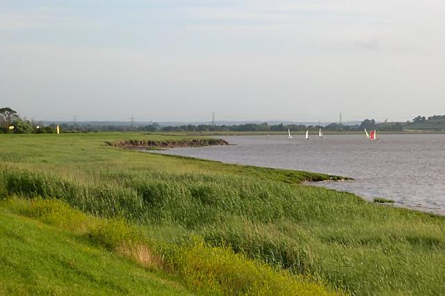 The banks of the Severn estuary near Oldbury