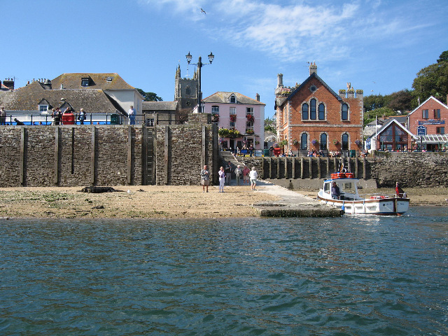 Fowey Town Steps at Very Low Tide