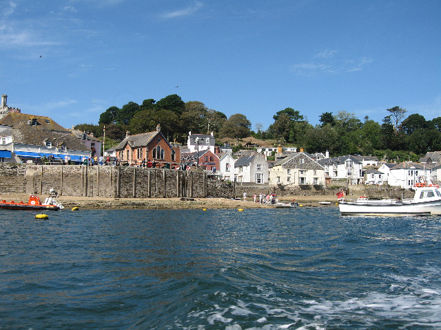 Fowey Town Very Low Tide From Water Taxi