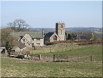 ST5906 : Melbury Bubb Church and Manor House by James Purkiss