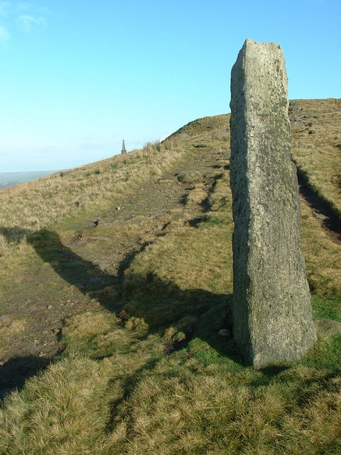 The Long Stoop & the Pennine Way towards Stoodley Pike