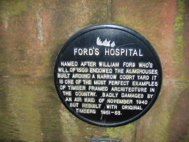 Plaque on Ford's Hospital