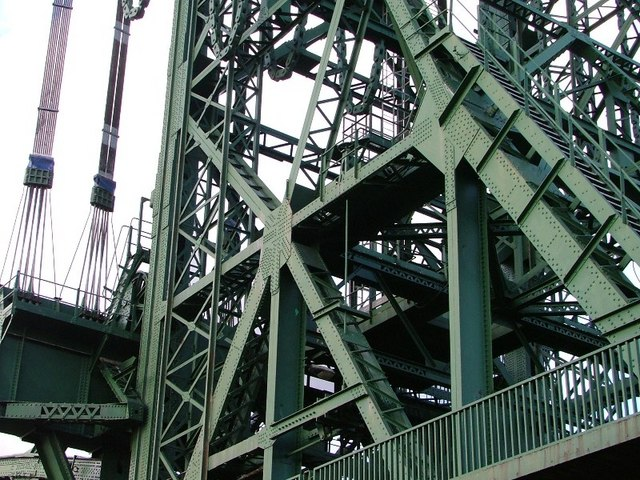 Newport Bridge - Detail of the Foot of the East Tower