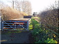 TL0951 : Entrance to bridleway by Oliver White