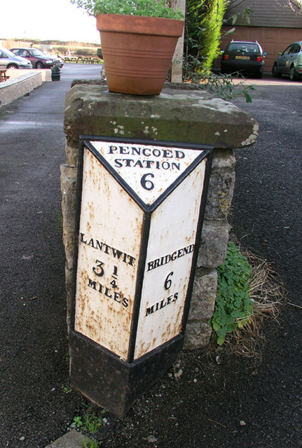 Mile Marker, Llysworney village centre