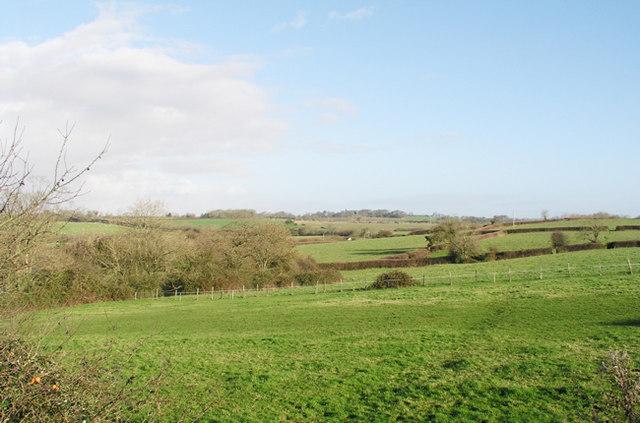Farmland to the north east of Llysworney