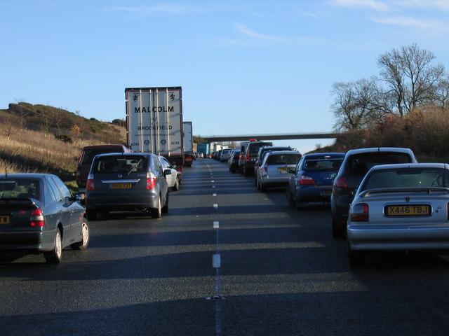 A14 near Elkington