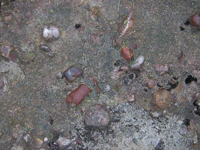 Pebbles in Torridonian sandstone