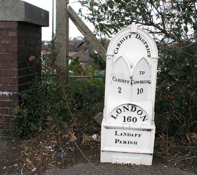 Mile Marker on Cowbridge Road West