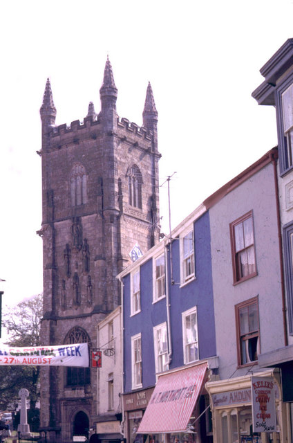 St Austell church and Fore Street