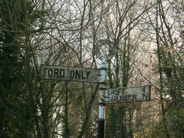 Old North Riding Signpost at Eryholme