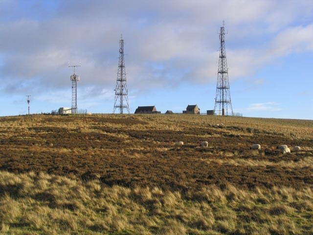 Radio masts at Mount Gilbert