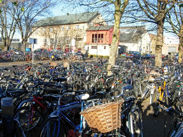 Bicycles at Cambridge Station