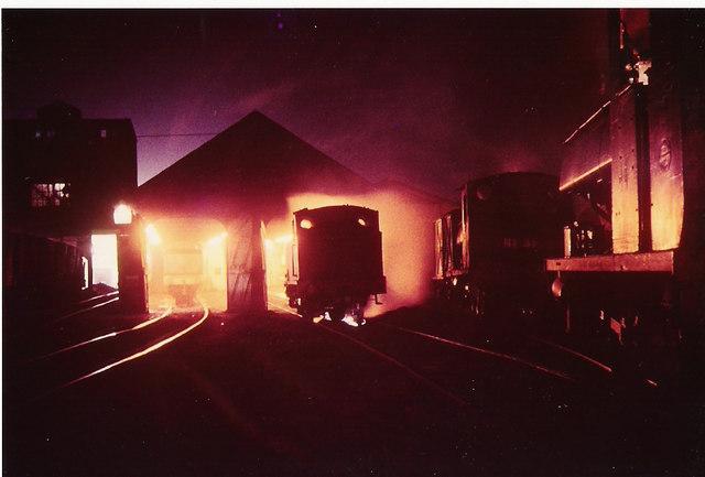 The night shift at Backworth loco shed.