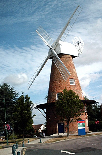 Rayleigh - Windmill from Mill Hall car... © John Myers ...