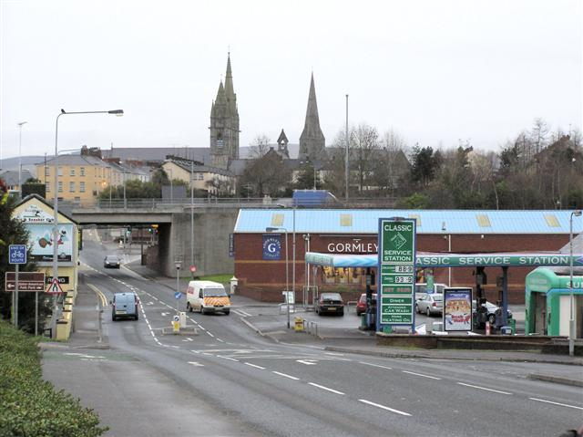Dromore Road, Omagh by Kenneth  Allen