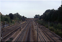 TQ3187 : Main Eastern Line at Finsbury Park by Chris Heaton