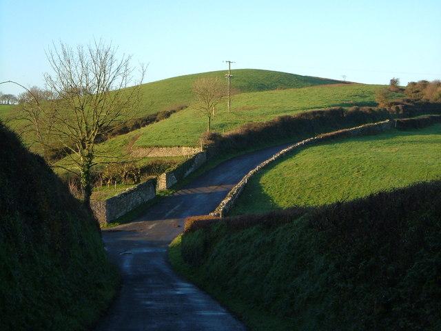 Lane past Hareston Farm