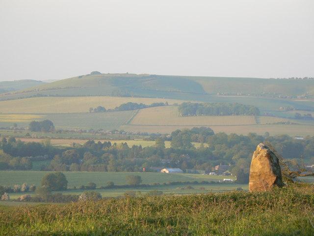 Liddington Castle from near Barbury Castle