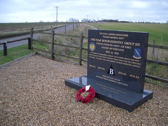 US Air Force War Memorial, Airfield Road, Podington