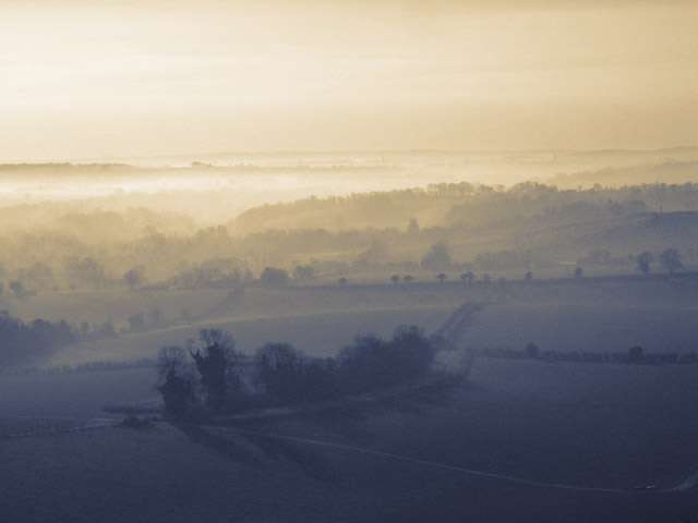 View south from Beacon Hill, nr Warnford