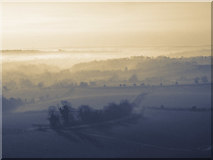 SU6022 : View south from Beacon Hill, nr Warnford by Peter Facey
