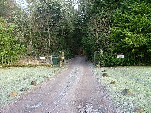 Driveway to Tulliemet House