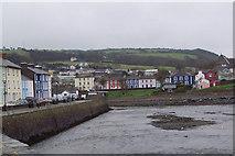 SN4562 : Coloured Harbour Houses by Maigheach-gheal