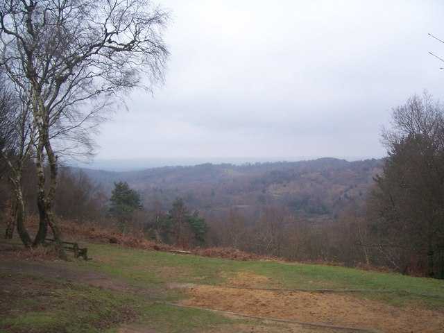 View over Devil's Punch Bowl from NT cafe viewpoint