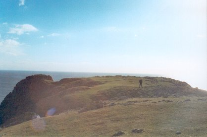 """Promontory fort on """"the Knave"""", Gower coast"""