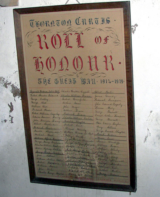 Thornton Curtis - Roll of Honour