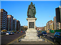 TQ2904 : Queen Victoria Statue, Grand Avenue by Simon Carey