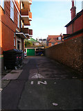 TQ2804 : Flint Wall, Hove Street by Simon Carey