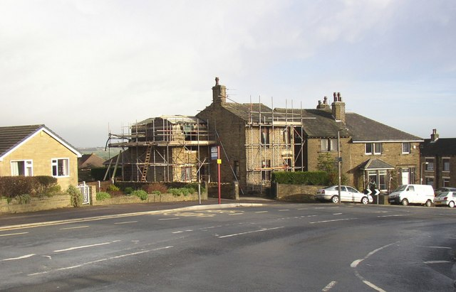 House being extended, Lane Head, Lower Edge Road, Rastrick