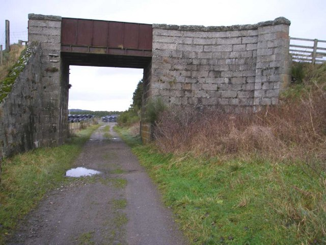 Bridge over dismantled railway line