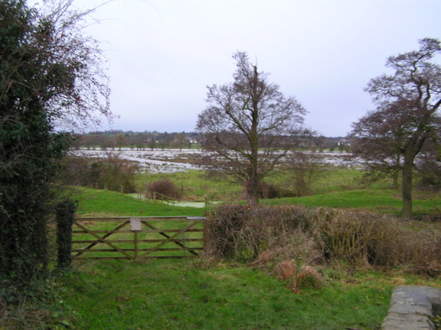 River Penk valley flooded across to Rickerscote