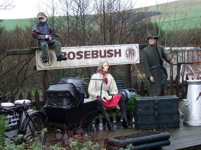 Station platform tableau, Rosebush
