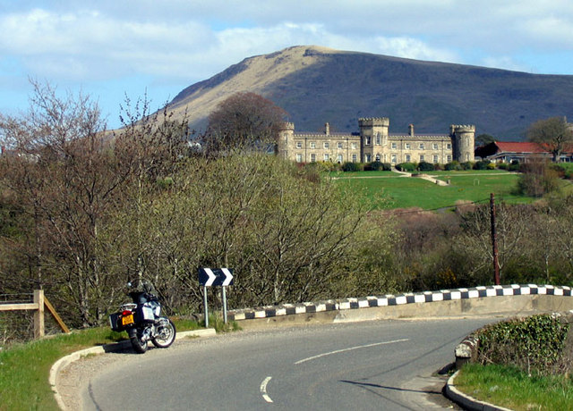 Dungiven Castle and Benbradagh Mountain