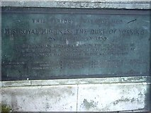 SY6778 : Plaque for the opening of  town bridge   Weymouth by Margaret Harding