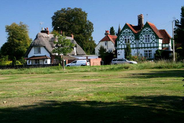 Houses on the green, Hatfield Heath