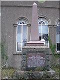 SH6005 : Memorial to Hugh Owen, Bronclydwr. by Hefin Richards