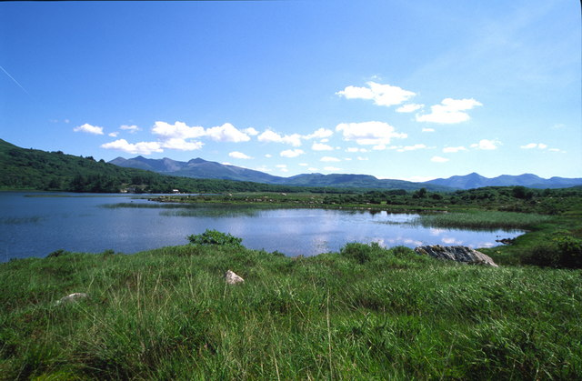 View over Loch Carthai towards Macgillycuddy's Reeks
