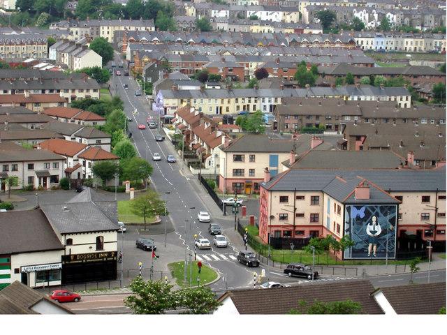 Westland Street from Derry's Walls