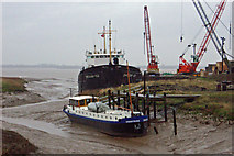 TA0623 : Wet Day at Barrow Haven by David Wright