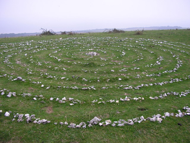 Stone Labyrinth on Ballard Down