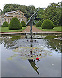 TQ1776 : Fountain in front of Conservatory, Syon Park by Christine Matthews