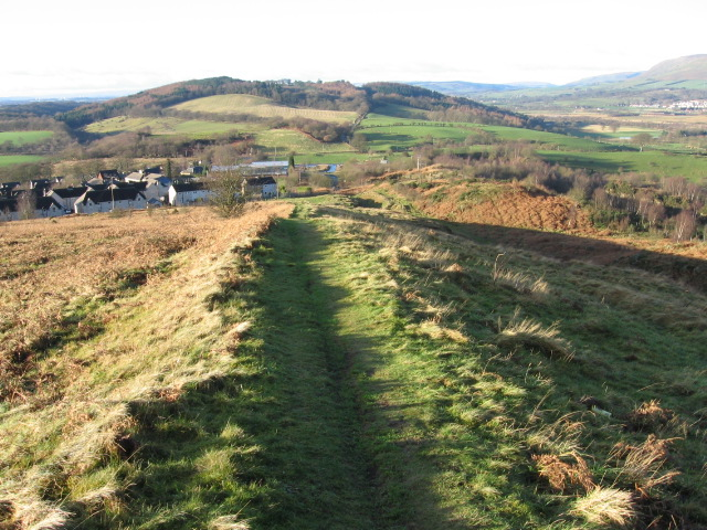 Course of the Antonine Wall at Croy Hill