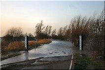 TL5392 : Flooded road at Welney by Bob Jones