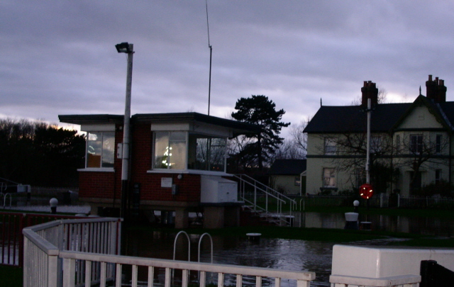 Diglis lock levelled by the floods